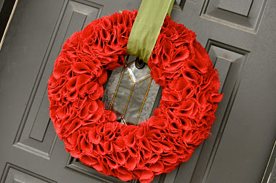 burlap red christmas wreath valentines how to