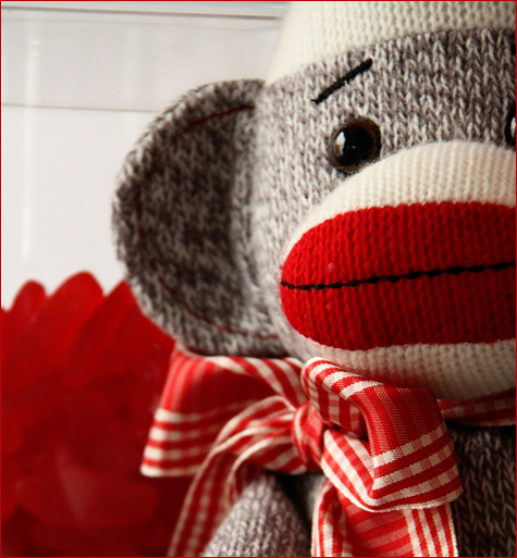 Sock Monkey Theme Baby's Room Design  I  becauseiliketodecorate.com