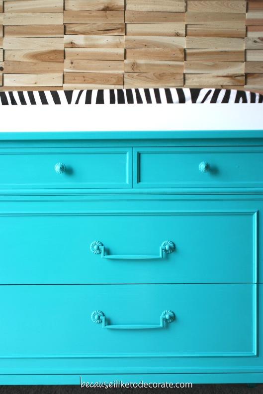 Caspian, blue dresser. Vintage Henredon