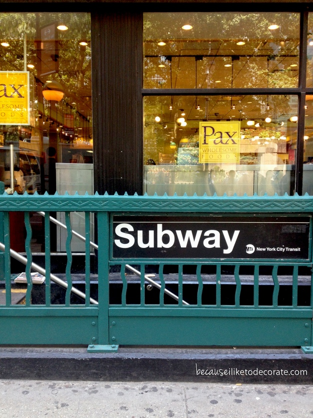 Subway entrance off 5th Ave. - NYC