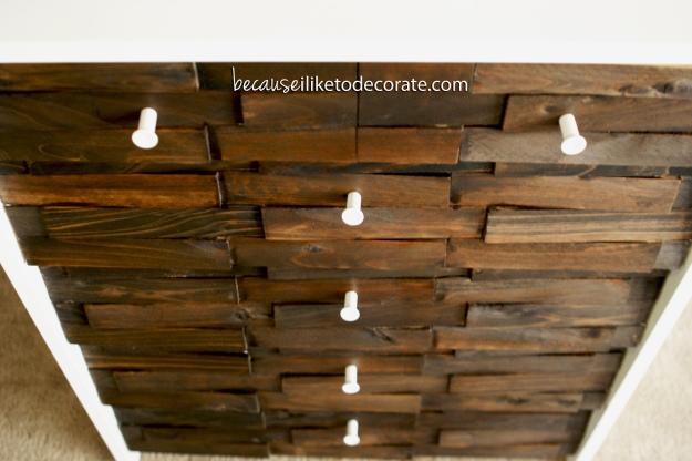Wood shim shoe cabinet  I  becauseiliketodecorate.com