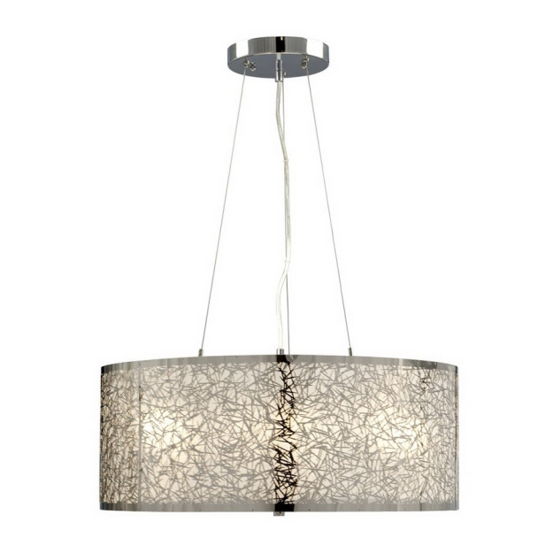 Chrome Drum Pendant @ Lowe's