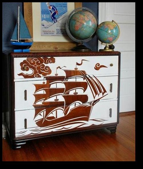 source: http://www.flor.com/blog/reverse-stencil-dresser/