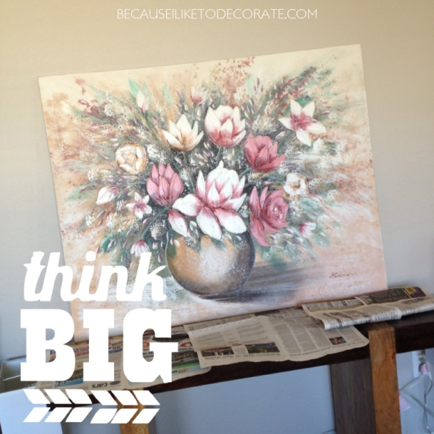 Transform an old canvas to new!  I  becauseiliketodecorate.com